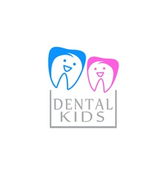 Logo dental care clinic dentistry for kids Teeth vector image vector image