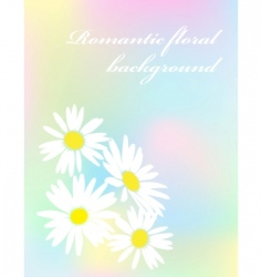romantic flower background vector image vector image