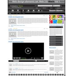 web design elements black 1 vector vector image vector image
