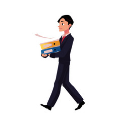 young businessman going somewhere carrying vector image