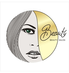 beauty face 1 vector image vector image