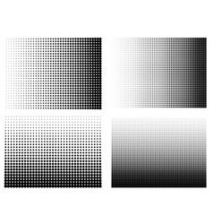 halftone gradient set half tone gradient vector image vector image