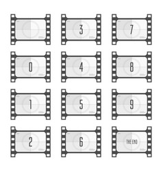 movie countdown numbers vector image