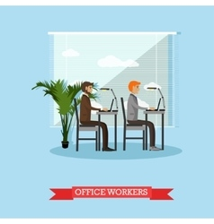 Office workers and business people work with vector image vector image