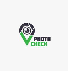 photo check logo vector image vector image
