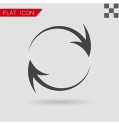 Arrow icon Flat Style with red vector image vector image