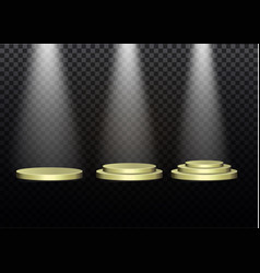 beautiful podium on dark background with vector image