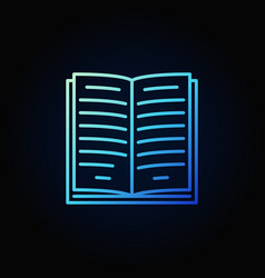 blue book outline icon vector image