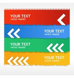 colorful text boxes vector image vector image