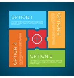 Flat Style Options Background vector image