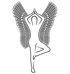 human with wings vector image