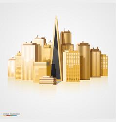 modern city landscape background vector image vector image