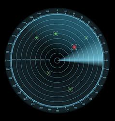 Radar display icon enemy detection concept vector