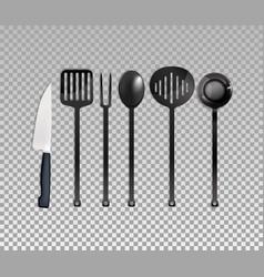 Realistic cutlery set vector