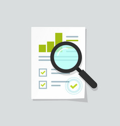 sales growth report analytics investigation vector image vector image