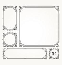 set of flourishes calligraphic elegant ornamental vector image vector image
