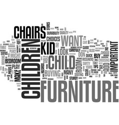 A quick guide to children s furniture for the vector