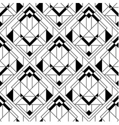 Art deco pattern black white background vector