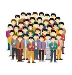 Asian men community concept in flat style vector