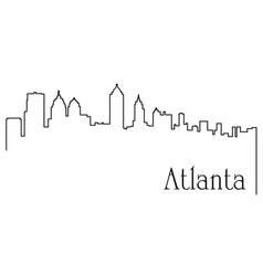 atlanta city one line drawing vector image