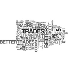 Better trades text word cloud concept vector