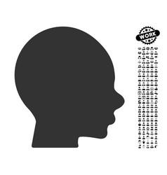 Boy head icon with job bonus vector
