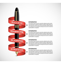 Business infographic in the form of an ink pen vector image vector image