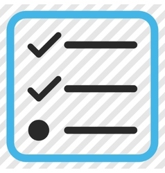 Checklist Icon In a Frame vector