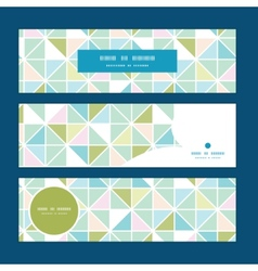 Colorful pastel triangle texture horizontal vector
