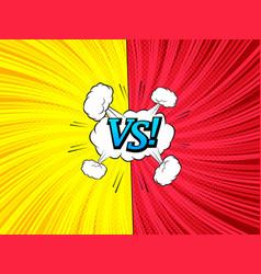 comic versus template vector image