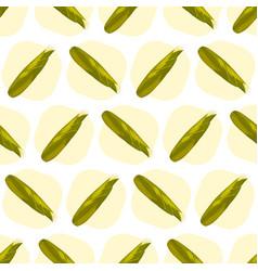 Corn maize seamless pattern realistic vector