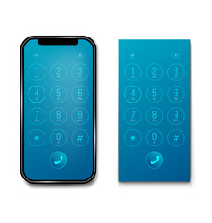 creative of phone dial keypad vector image
