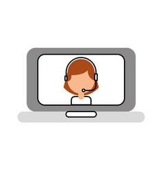 Customer service helpline online agent vector