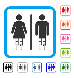 Disabled wc persons framed icon vector
