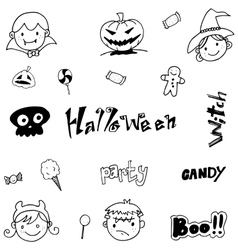 Doodle of cute halloween for kids vector