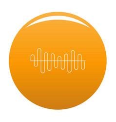 Equalizer volume sound icon orange vector