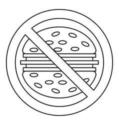 Fast food danger icon outline style vector