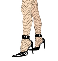 Fishnet stockings and high heels vector