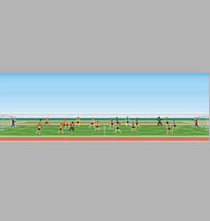 football match team players sport championship vector image