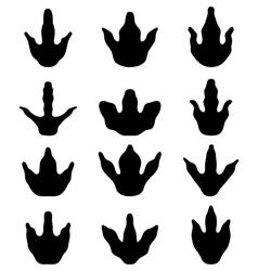 Footprints of dinosaur vector