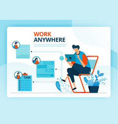 For work anywhere and freelance jobs human vector