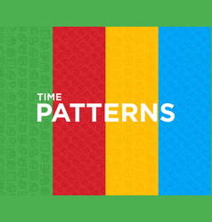 four different time seamless pattern vector image
