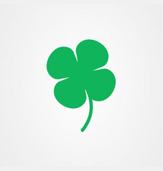 four leaf clover icon st patricks day vector image