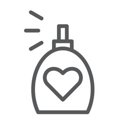 Fragrance line icon aroma and love perfume sign vector