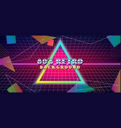Futuristic retro 1980s style abstract cover vector