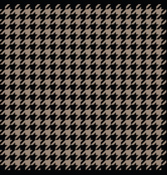 Gold houndstooth pattern classical vector
