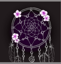 Hand drawn ornate dream catcher vector