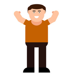 happy man icon vector image