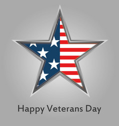 happy veterans day american vector image