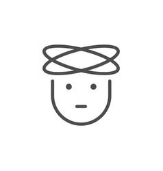 headache line icon vector image